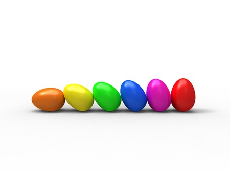 roll color eggs