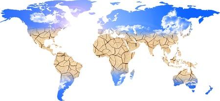 planisphere: 3d illustrazione di una serie di settori che rappresentano planisfero di siccit�