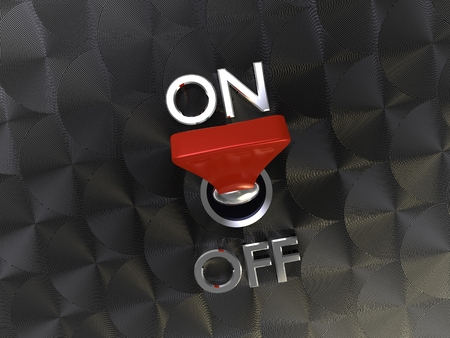 3d illustration of cool Realistic Toggle Switch turn on