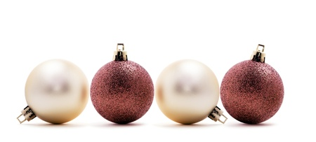 Four christmas balls isolated on white background Stock Photo - 17132667