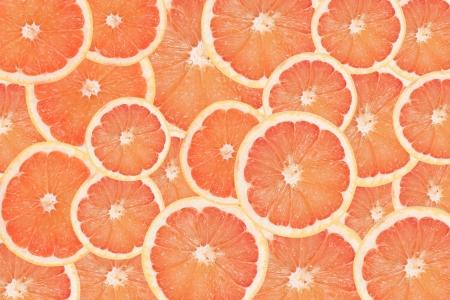 juicy grapefruit slices