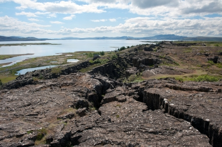 tectonics: Thingvellir National park - Iceland  Stock Photo
