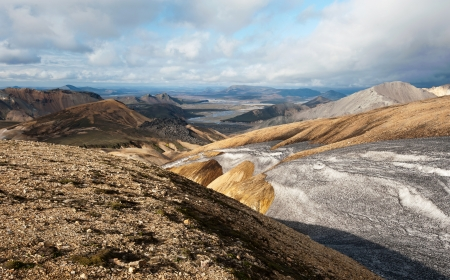 landscape of Landmannalaugar mountains, Iceland