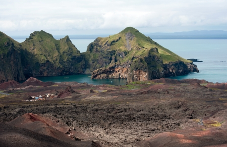 Multi Colored Lava Landscape at Heimaey Island, Iceland