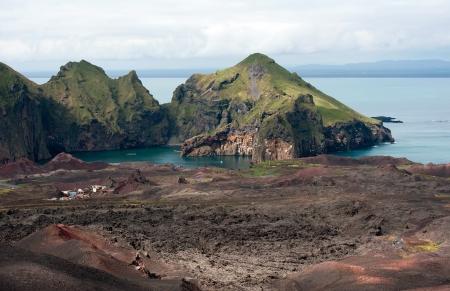 Multi Colored Lava Landscape at Heimaey Island, Iceland