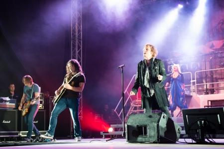SNINA, SLOVAKIA - AUGUST 8  Performance of Avantasia project on music festival Rock pod Kamenom in Snina, Slovakia on August 8, 2013