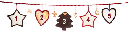 1-5, part of Advent calendar Stock Photo
