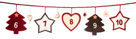 6-10, part of Advent calendar Stock Photo