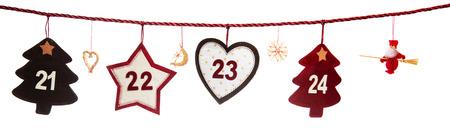21-24, part of Advent calendar Stock Photo