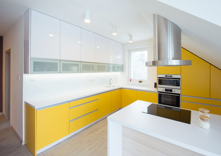 fitted: contemporary kitchen interior