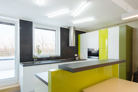 fitted: Modern kitchen interior  Stock Photo