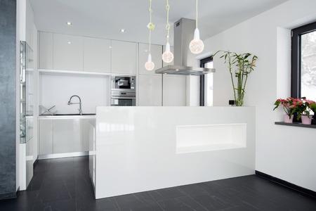 cuisine fond blanc: Int�rieur moderne de cuisine