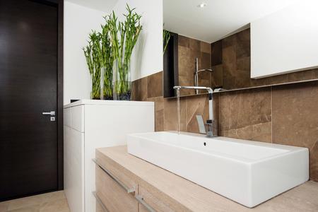 interior of modern bathroom photo