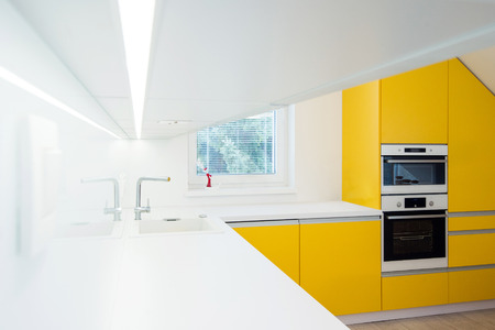 contemporary kitchen interior photo