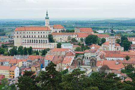 Mikulov  Nikolsburg  castle and town in South Moravia, Czech Republic