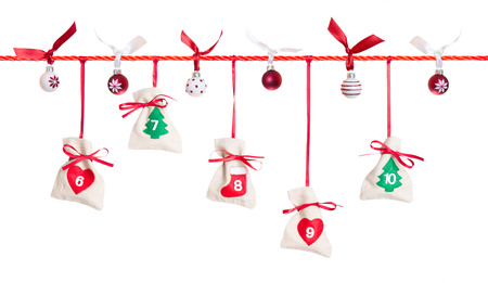 2nd part of Advent calendar isolated on white background Stock Photo
