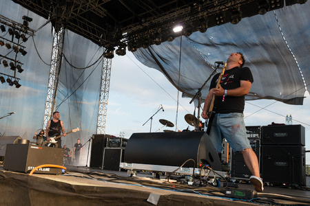 cocaine: PIESTANY, SLOVAKIA - JUNE 28: Vratko Rohon of Slovak rock music group Ine Kafe performs on music festival Topfest in Piestany, Slovakia on July 28, 2015 Editorial