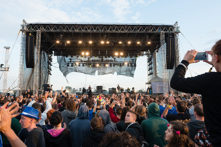 cocaine: PIESTANY, SLOVAKIA - JUNE 28: Slovak rock music group Ine Kafe performs on music festival Topfest in Piestany, Slovakia on July 28, 2015 Editorial