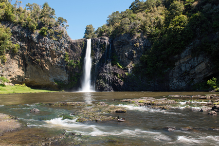 Hunua falls located in  Hunua Ranges Regional Park close to Auckland, New Zealand