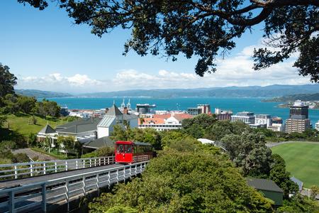 wellington: WELLINGTON, NEW ZEALAND - DEC 13 2015: City view from the Cable Car at Wellington, New Zealand