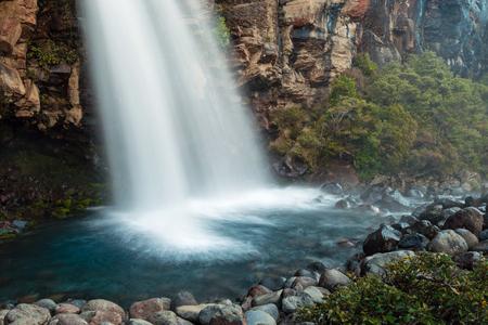 tongariro national park: detail of water in Taranaki Falls, Tongariro National Park, New Zealand