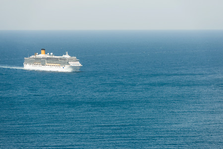 Cruise ship on the open sea