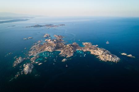 Aerial view of Lavezzi island near Corsica island, France Stock fotó - 88553473