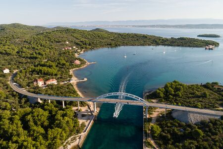 Zdrelac bridge connecting Ugljan and Pasman islands, Croatia