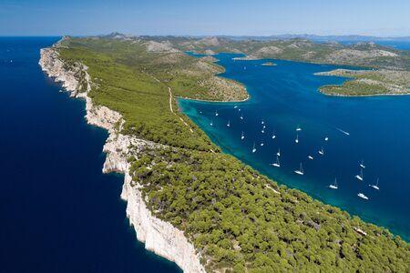 Cliffs in National park Telascica, Adriatic sea, Croatia