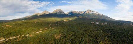 Aerial panoramic view of High Tatras, Slovakia