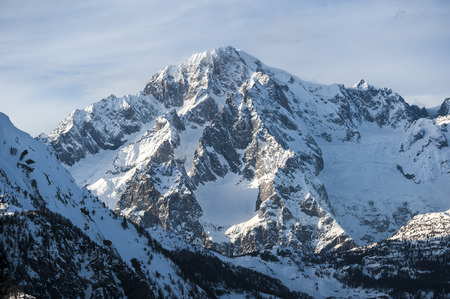 massif: Massif Mont Blanc view from courmayeur