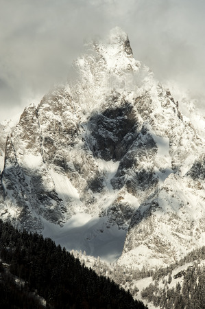 detail of Massif Mont Blanc view from courmayeur photo