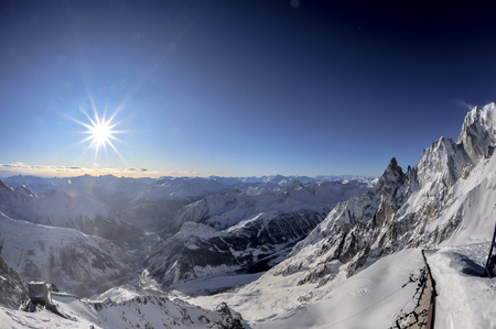 aosta: mont blanc landscape from high altitude