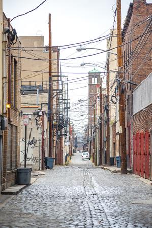 strret: strret in the back of building in hoboken