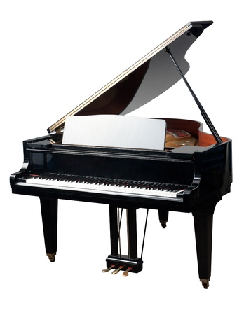 The grand Piano for playing in the orchestra band photo