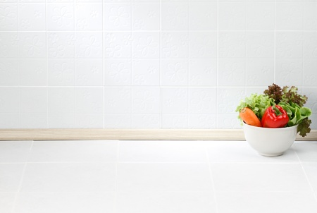 The empty space in the kitchen nice to put some text or idea on it Stock Photo