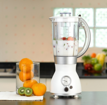 The electric blender for make fruit juice or smoothie photo