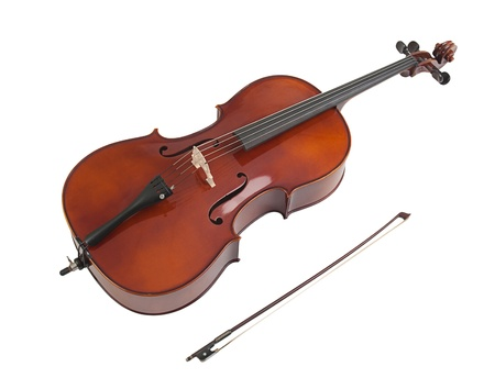 cellos: Sweet sound of the cello Stock Photo