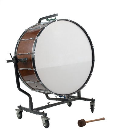 Oude grote bass drum de percussie van muziekband Stockfoto