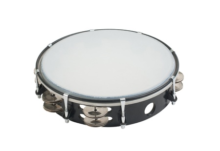 Tambourine the one of the music instrument that give the happiness for you photo