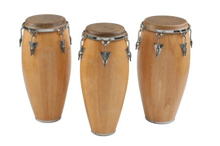 percussion: Three of congas the percussion of music band