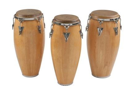 reggae: Trois des congas la percussion de groupe de musique