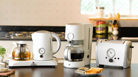 with coffee maker: Many of kitchenware that you should have in the kitchen