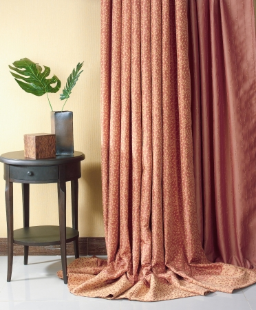 Beautiful curtain for decorate your home photo