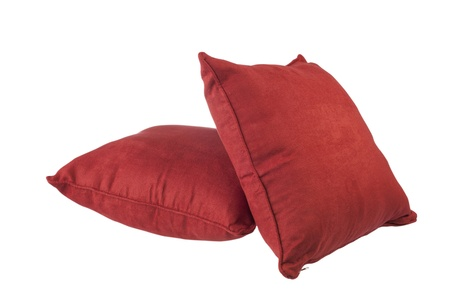 red cushions for relax time at home Stock Photo - 16658427
