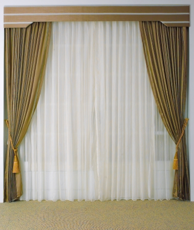 curtain: The curtain with blank space