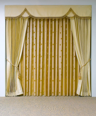 The luxury curtain with blank space  photo
