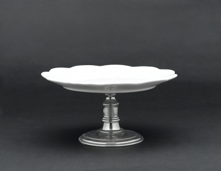 dessert stand: A porcelain dessert stand for serving dessert Stock Photo
