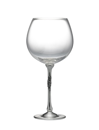 Wine glass decorated with the pewter in grape shape Stock Photo - 16658202