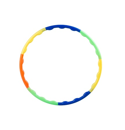 colorful plastic hoop Stock Photo